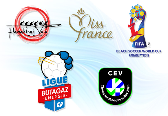 Hawaiki Nui Vaa, Miss France, Beach Soccer World Cup, French Women's Handball Championship, European Volleyball Women's Champions League